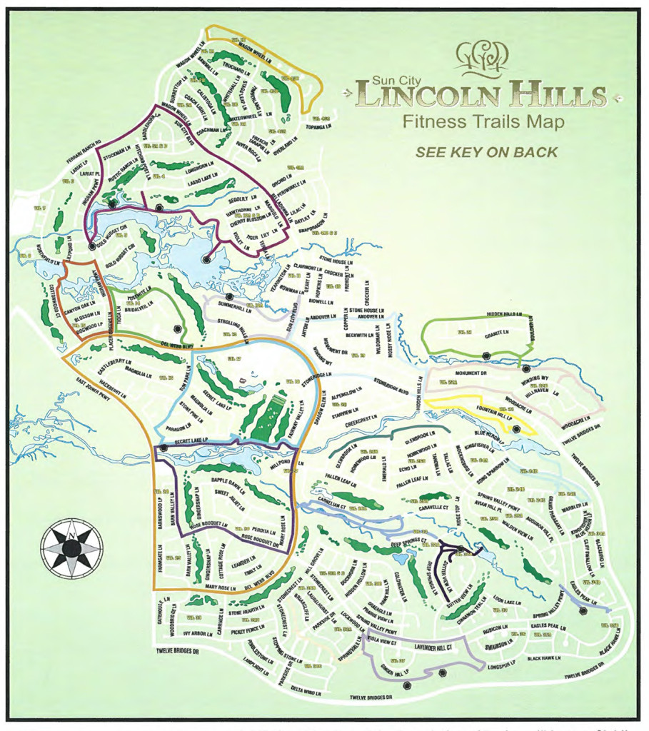 Map of Sun City Lincoln Hills Trails