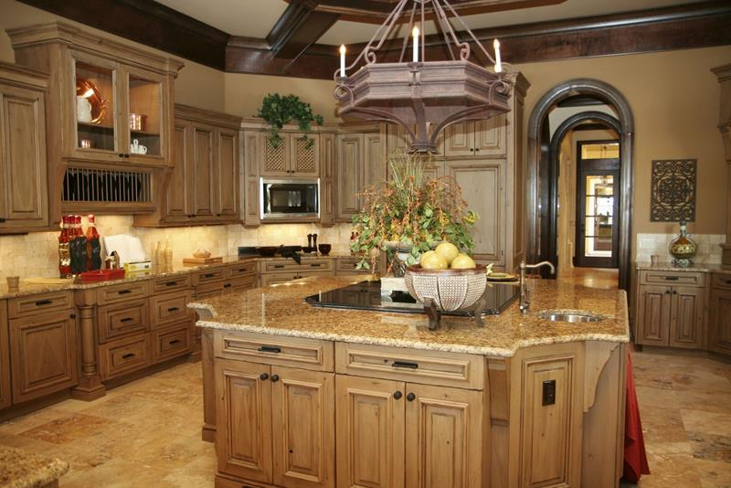 A luxury kitchen in an expensive estate home